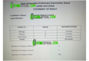 TESTIMONIALS : JUPEB Proves |Admission letter success from candidates